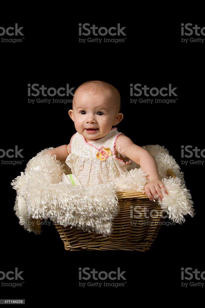 Baby Girl Basket Series royalty-free stock photo