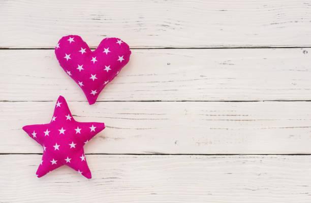 baby mädchen geburtstag grußkarte mit rosa herz und stern - taufe texte stock-fotos und bilder