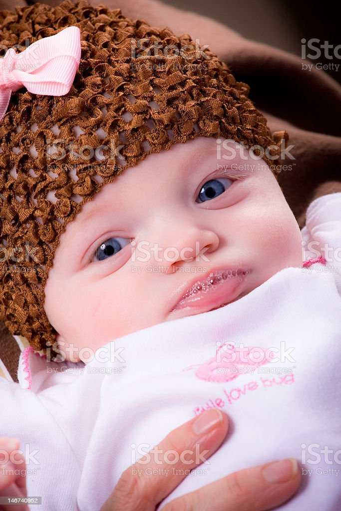 Baby Girl blowing bubbles royalty-free stock photo