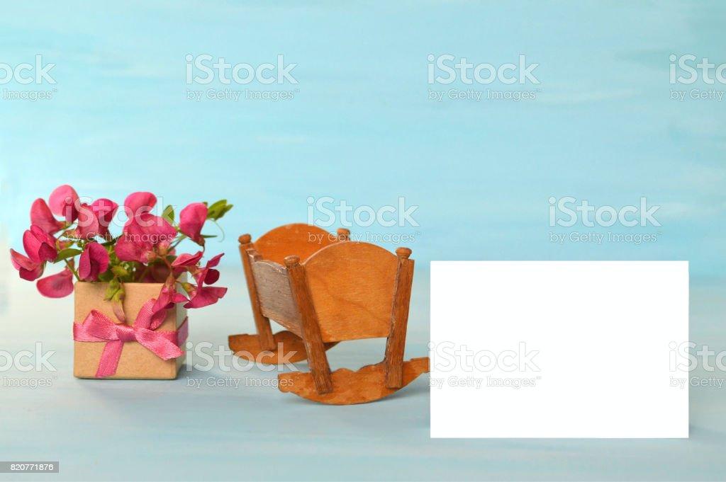 Baby girl card stock photo