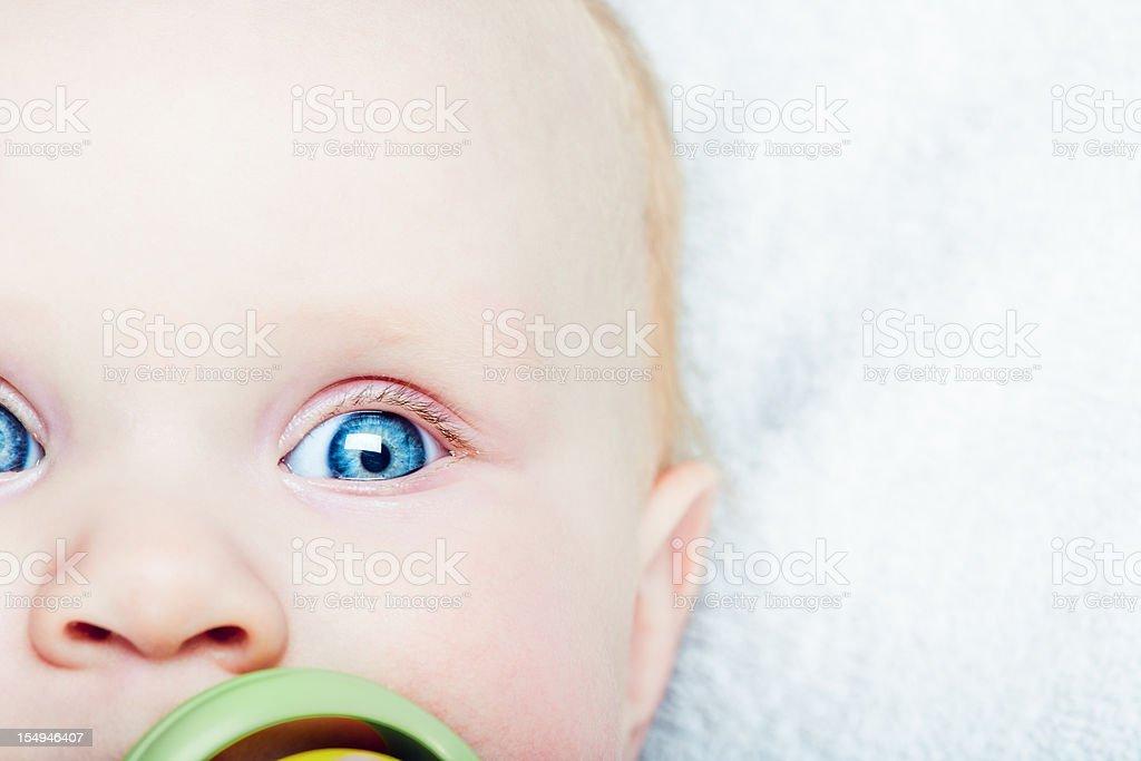 Baby girl closeup stock photo