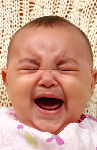 Baby Girl Crying 4 Months Old Stock Photo - Download Image ...