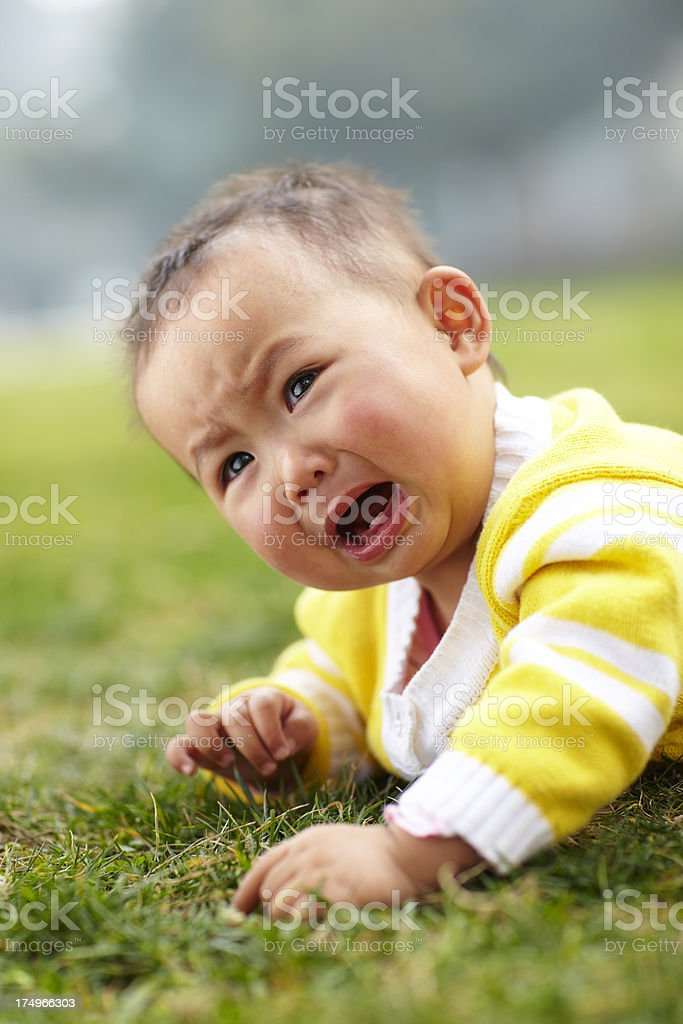 baby girl crying royalty-free stock photo
