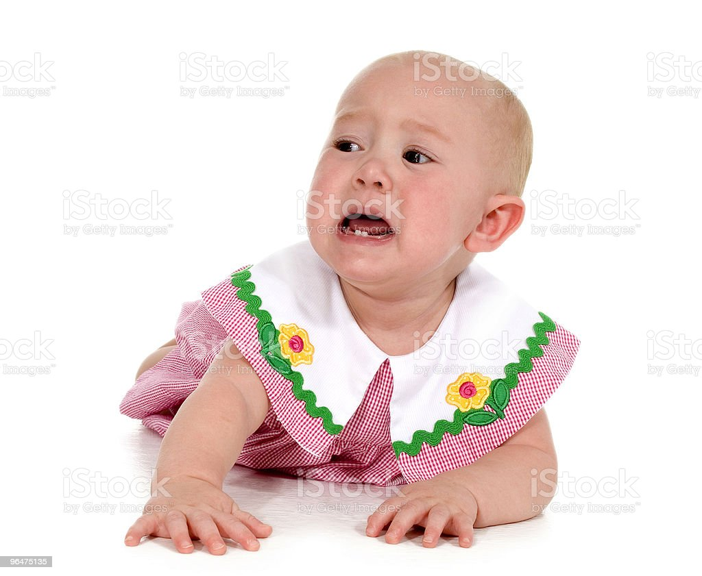 Baby Girl Crying royalty-free stock photo