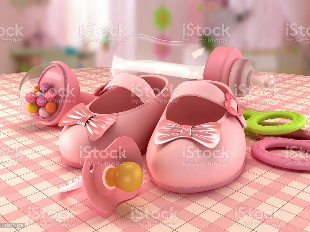 Baby girl goods royalty-free stock photo
