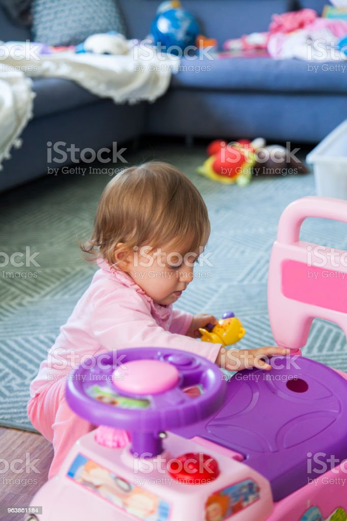 baby girl having fun at home - Royalty-free 12-17 Months Stock Photo