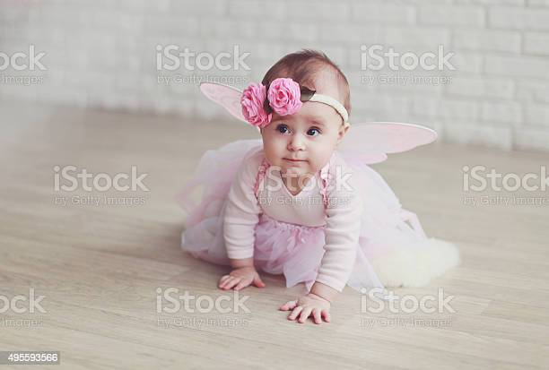 Baby Girl In A Fairy Costume Stock Photo Download Image Now Istock