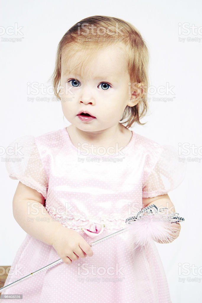Baby Girl in Dress - Royalty-free Baby - Human Age Stock Photo