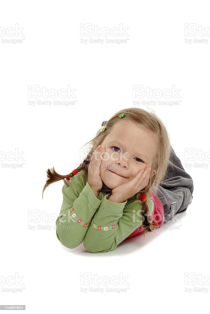 Baby Girl In Pants stock photo