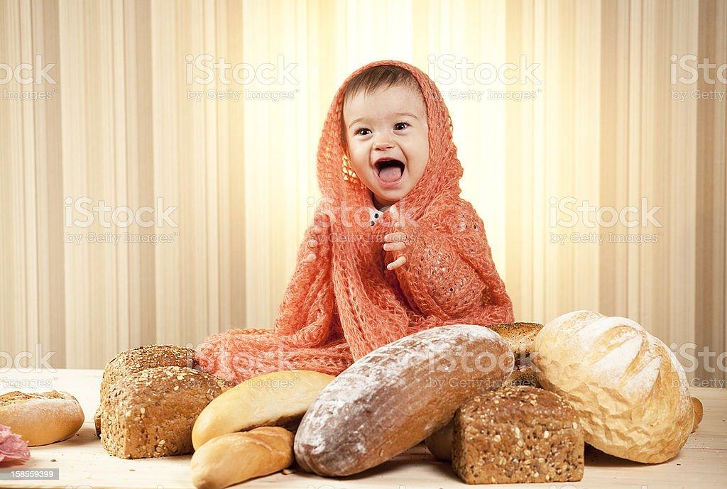 아기 여자아이 웃음소리 royalty-free 스톡 사진