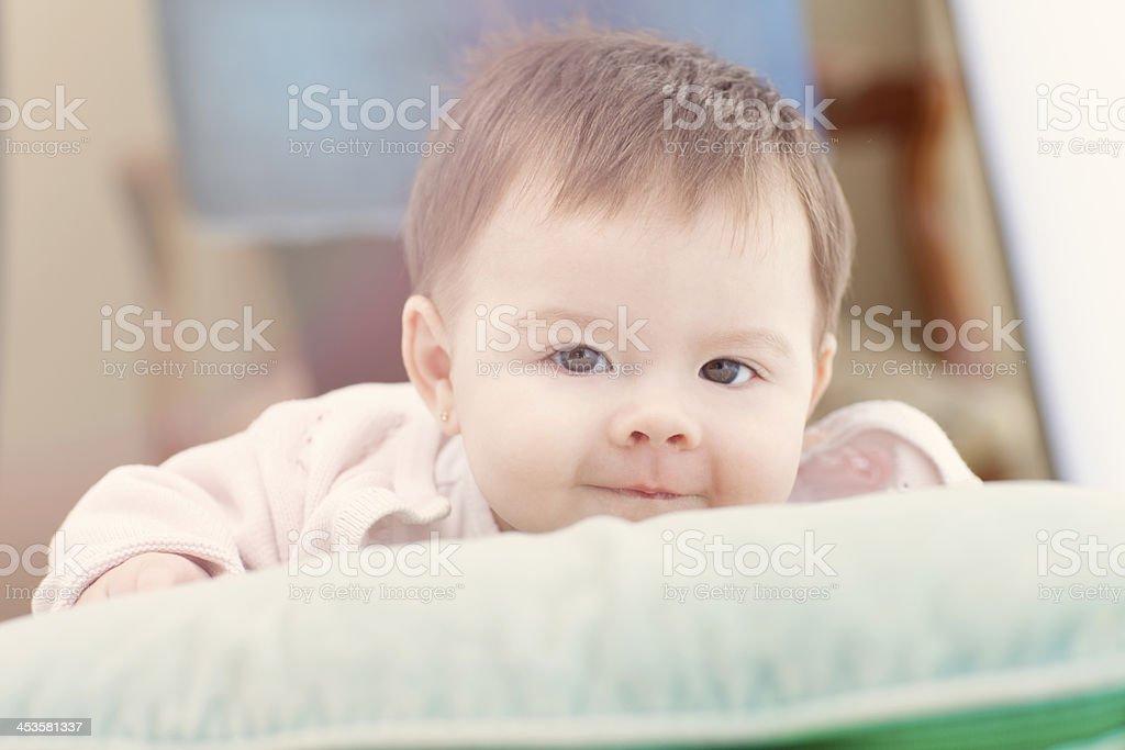 Baby Girl Looking at Camera royalty-free stock photo