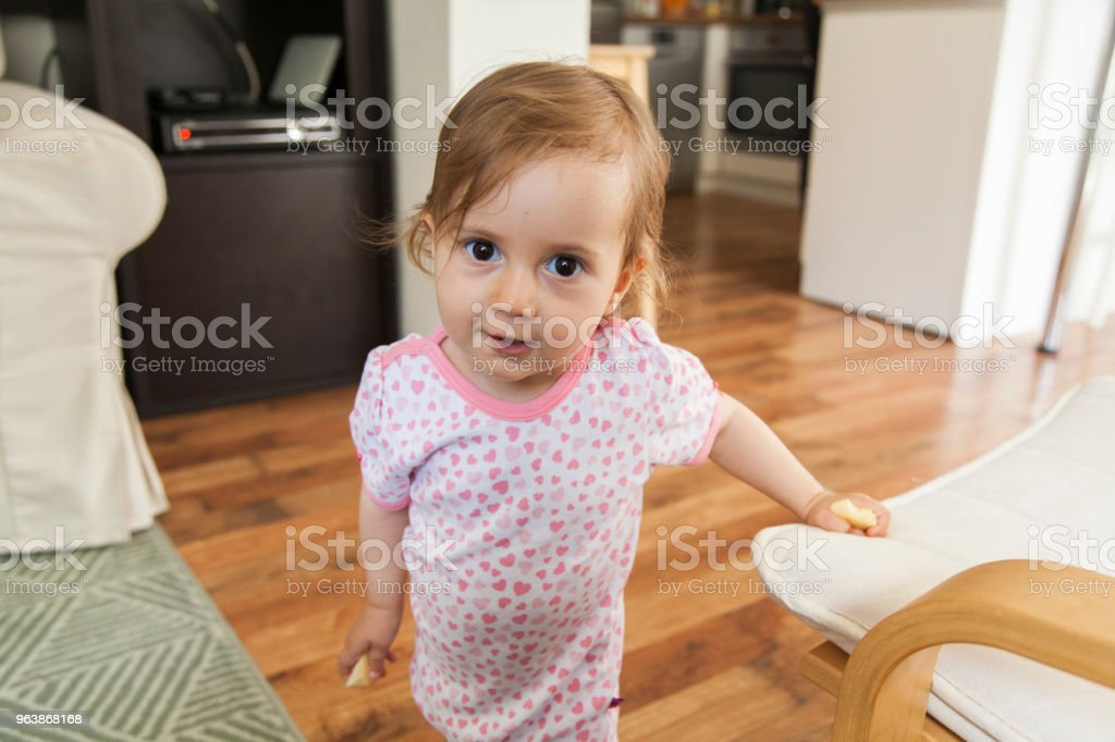 baby girl looking at camera - Royalty-free 12-17 Months Stock Photo