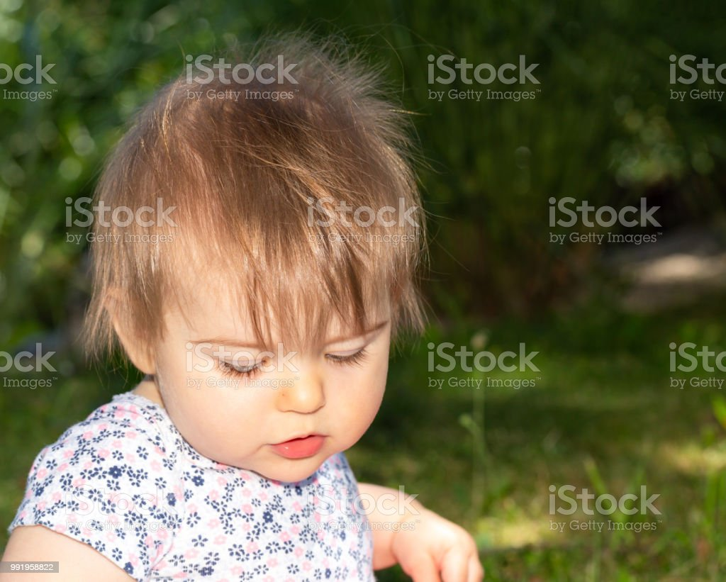 Baby Girl Outdoor Portrait 6 Stock Photo More Pictures Of Babies
