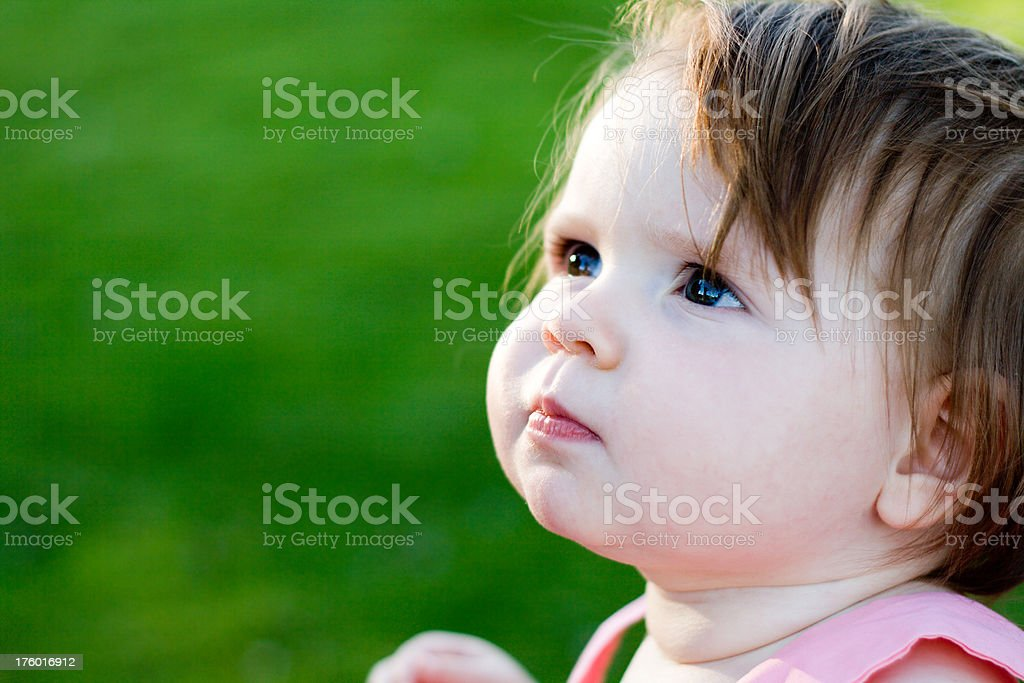 Baby girl outdoors royalty-free stock photo