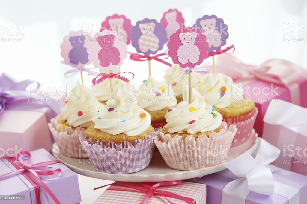 baby girl party stock photo