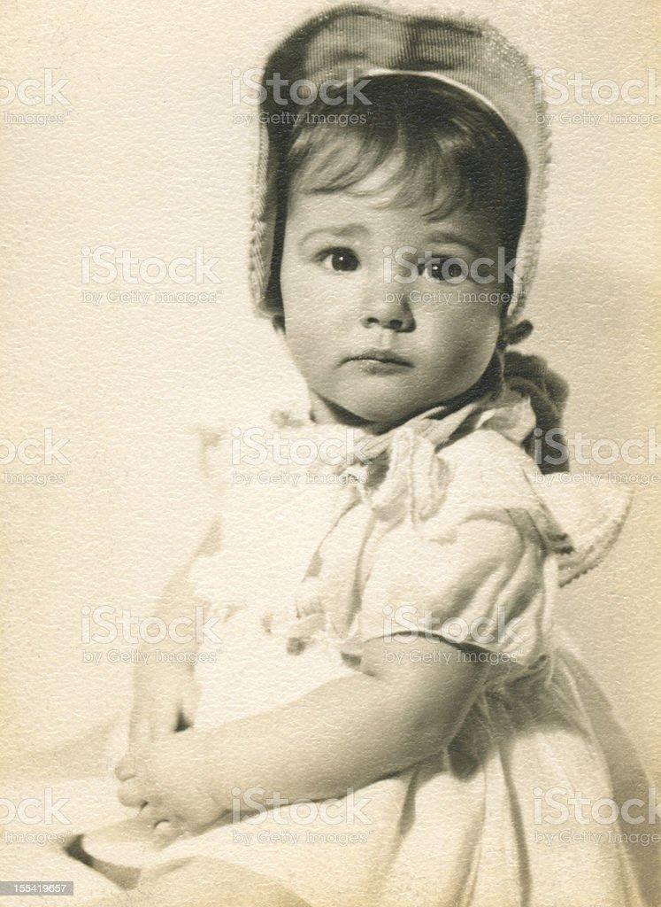 1943 Baby Girl Portrait royalty-free stock photo