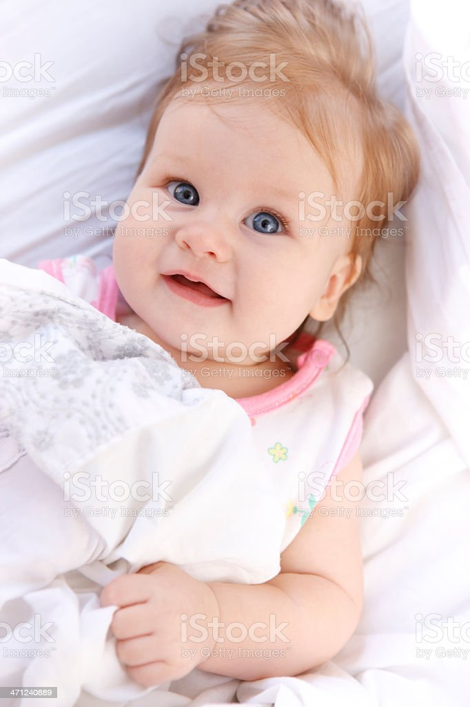 Baby Girl Smiling royalty-free stock photo