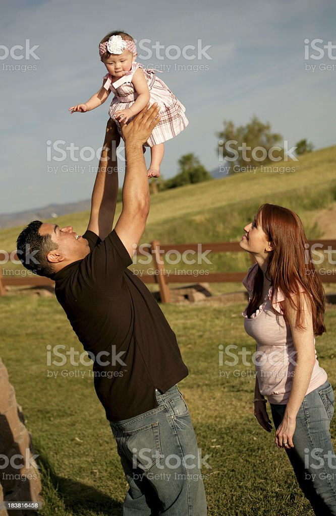 Baby Girl Toss royalty-free stock photo