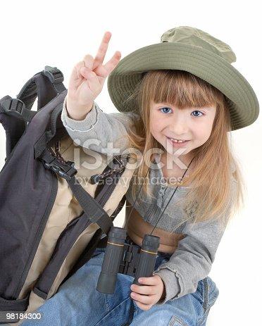 Bambino Ragazzaturista - Fotografie stock e altre immagini di Abbigliamento