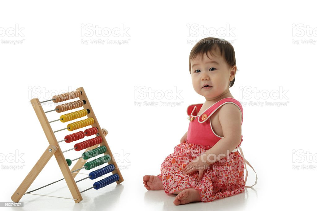 Baby Girl with abacus royalty-free stock photo