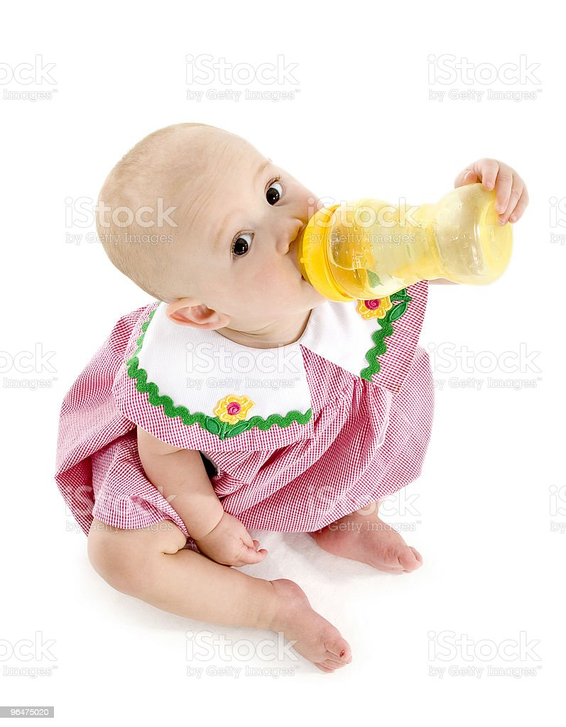 Baby Girl with Bottle royalty-free stock photo