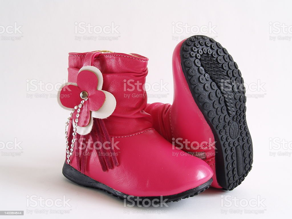 baby girl's boots royalty-free stock photo