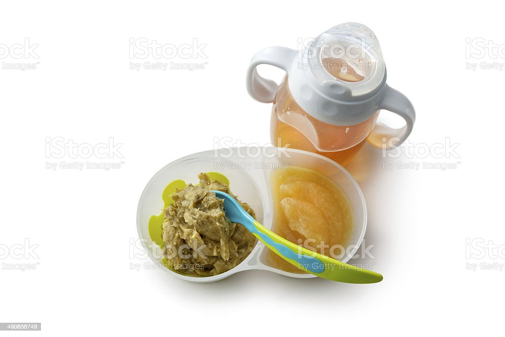 Baby Goods: Food and Juice stock photo