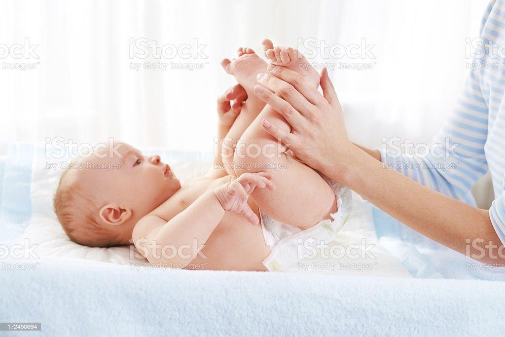 Baby gymnastics royalty-free stock photo
