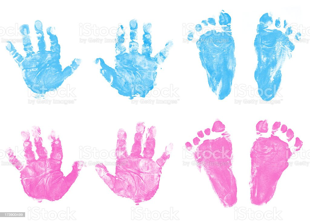 Baby Handabdruck Und Fußabdruck Stock Fotografie Und Mehr Bilder Von