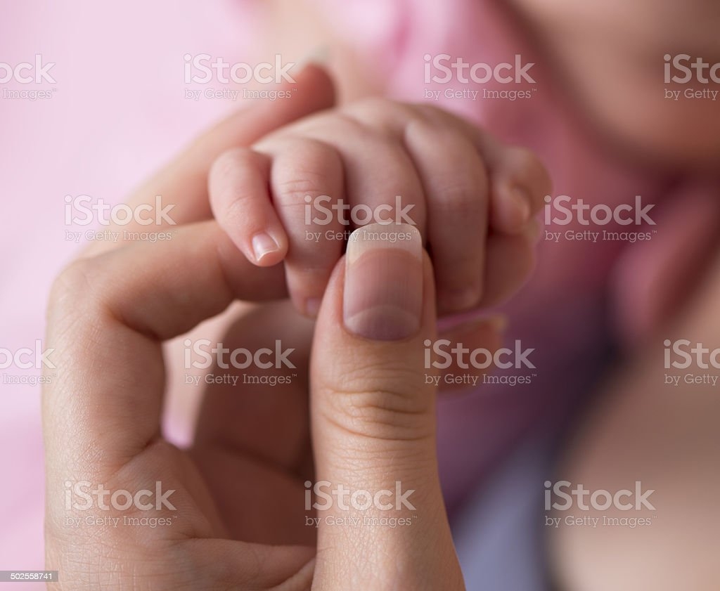 Baby hands. royalty-free stock photo