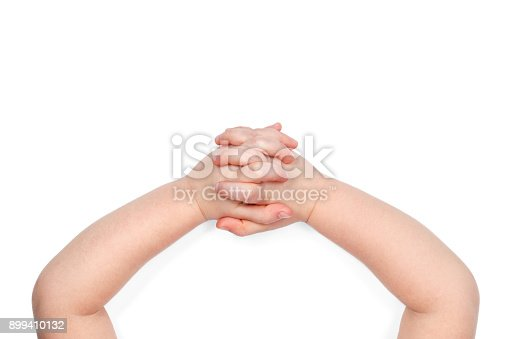 istock Baby hands view from above 899410132