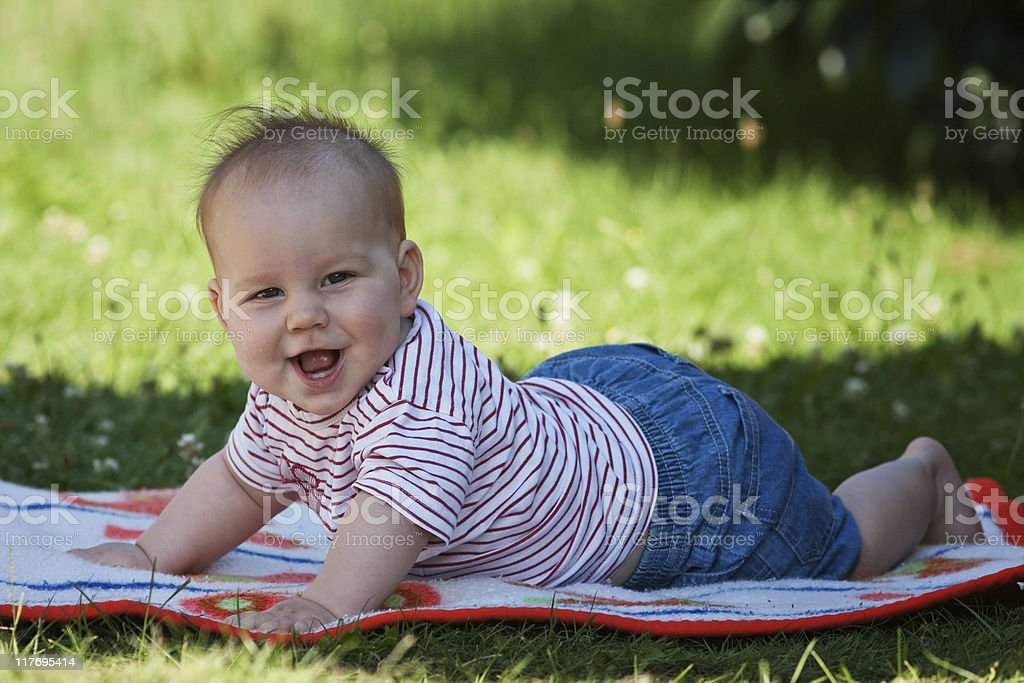 Baby have Fun royalty-free stock photo