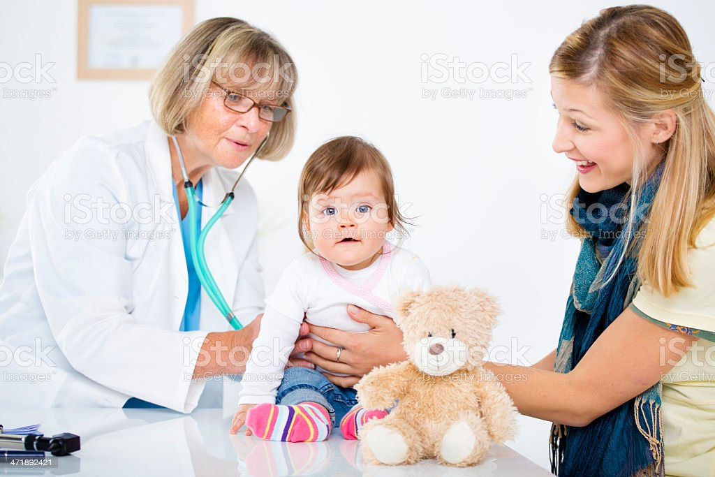 Baby Having An Medical Exam. royalty-free stock photo