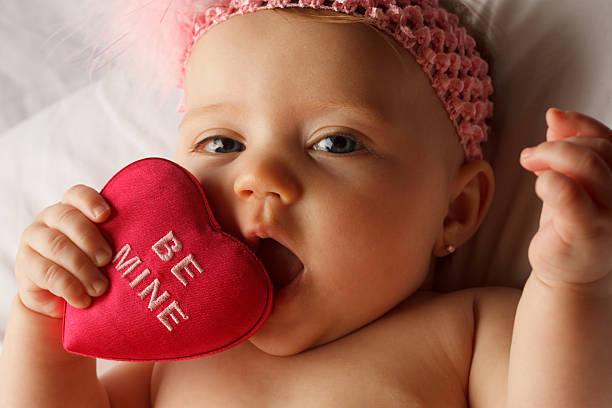 Baby Heart Eat stock photo