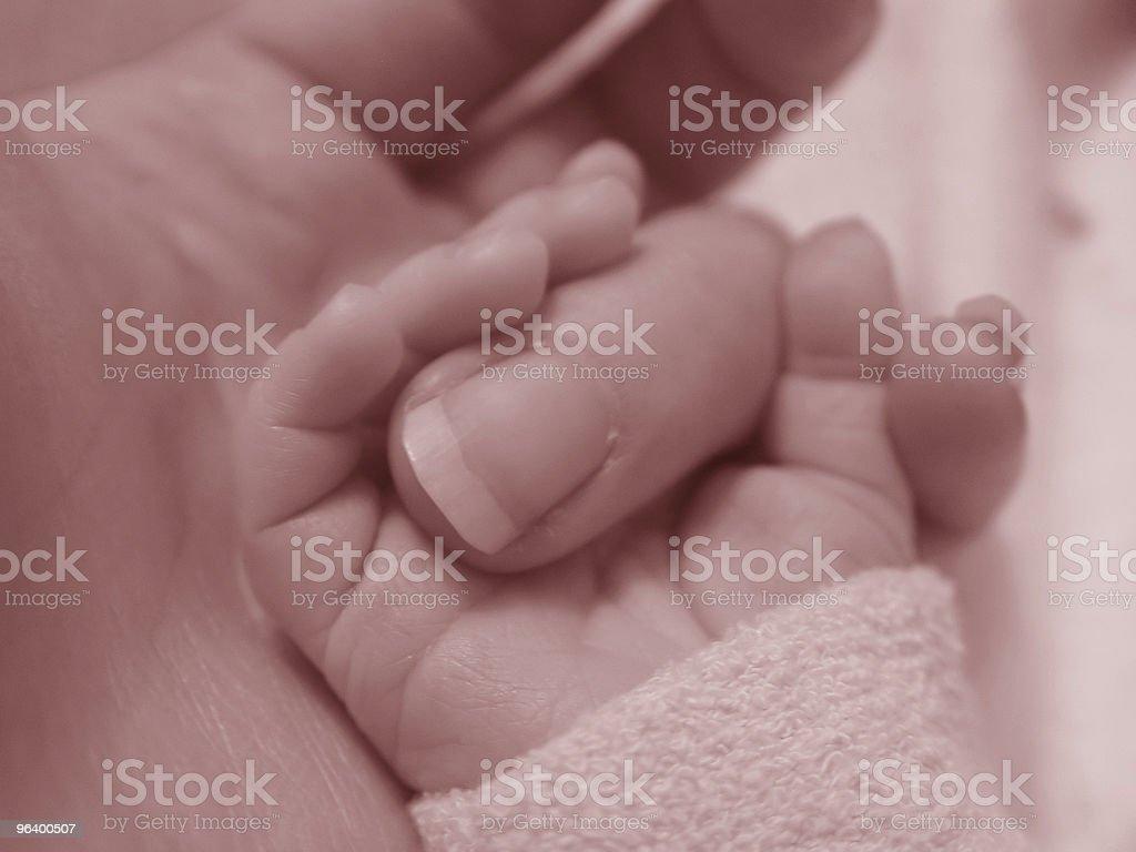 Baby Holding Finger royalty-free stock photo