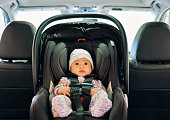 istock Baby in a Carseat 1217449568