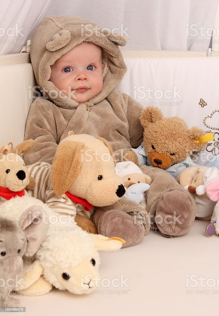 Baby Bear with fluffy Toys