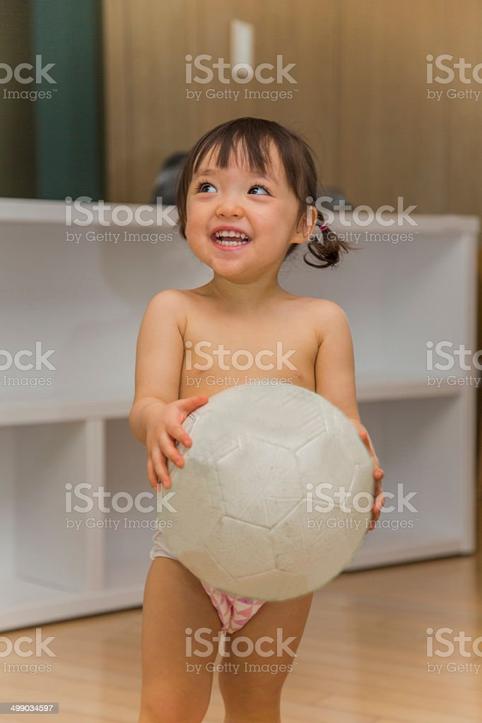 Baby In Diapers stock photo