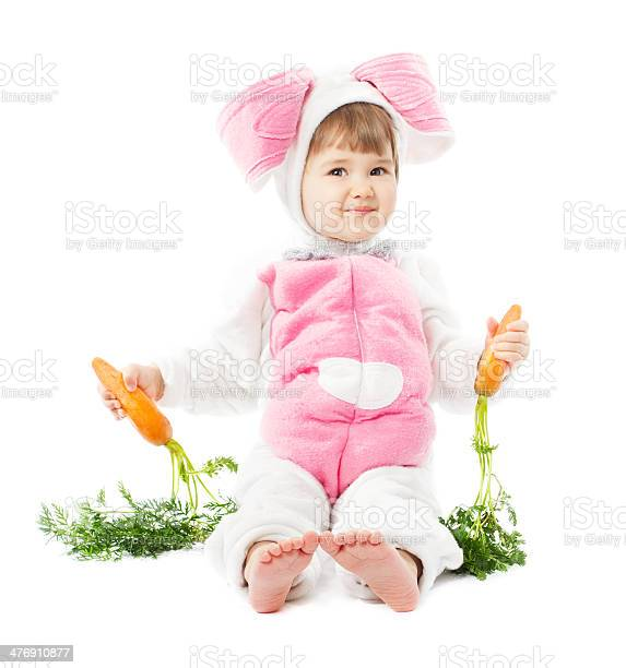 Baby in easter bunny costume with carrot kid girl hare picture id476910877?b=1&k=6&m=476910877&s=612x612&h=sxyg7skplpwpye2s7qu humyg4iqzkszs0syuhg wle=