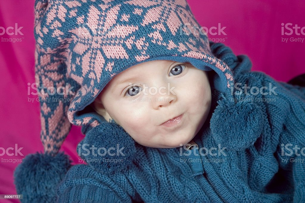 Baby in Hat royalty-free stock photo