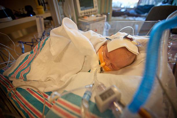 Baby in Hospital stock photo