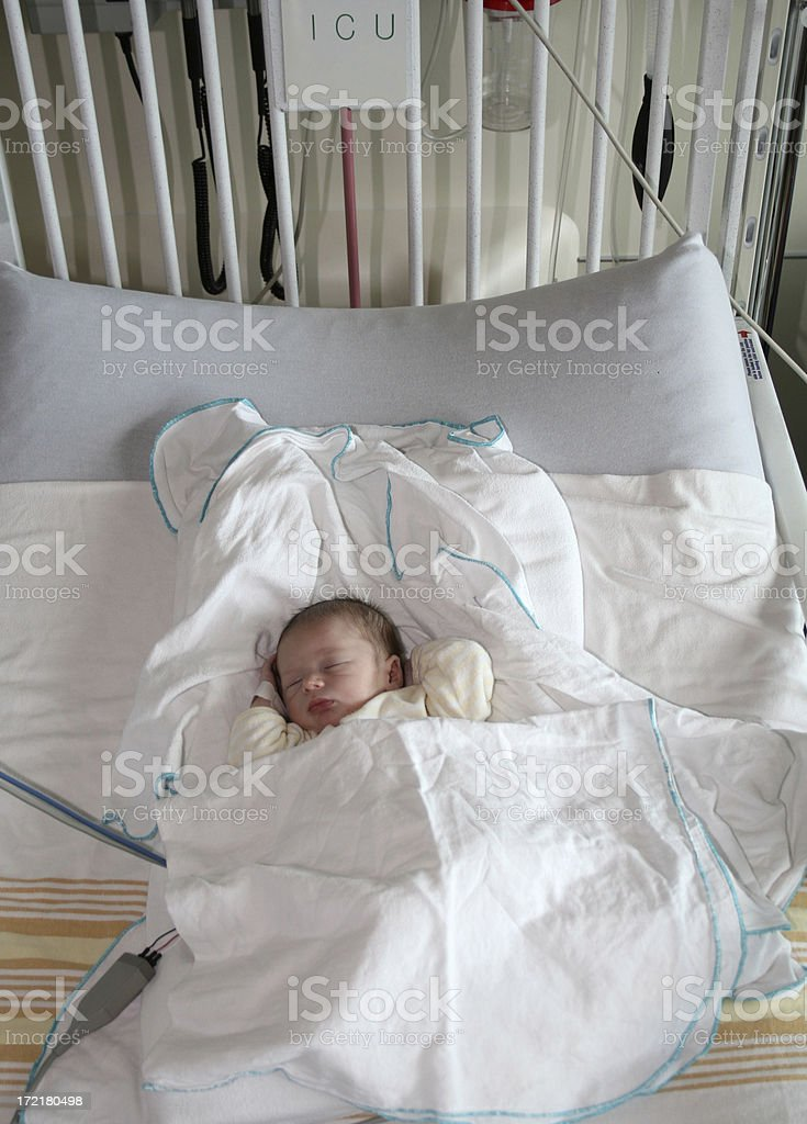 Baby in ICU 2 stock photo