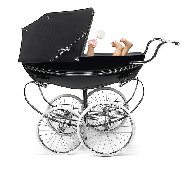 Baby in Stroller  baby carriage stock pictures, royalty-free photos & images