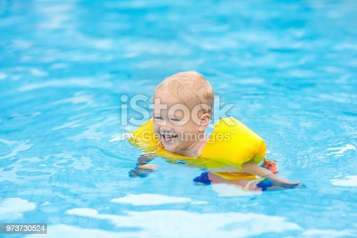 1080429798istockphoto Baby in swimming pool. Kids swim. 973730524