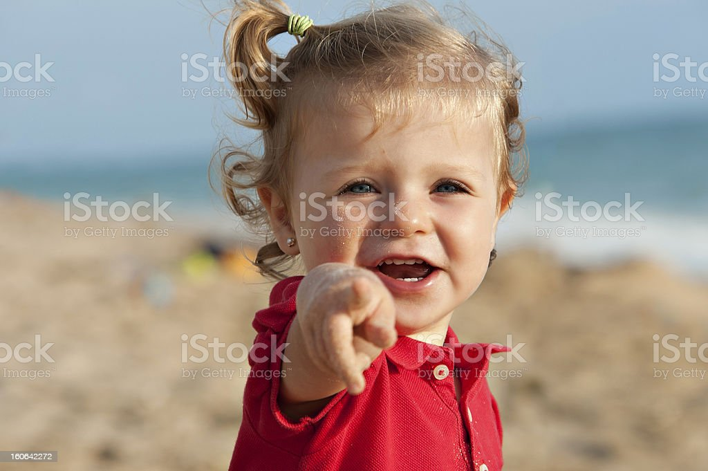 Baby in the beach royalty-free stock photo