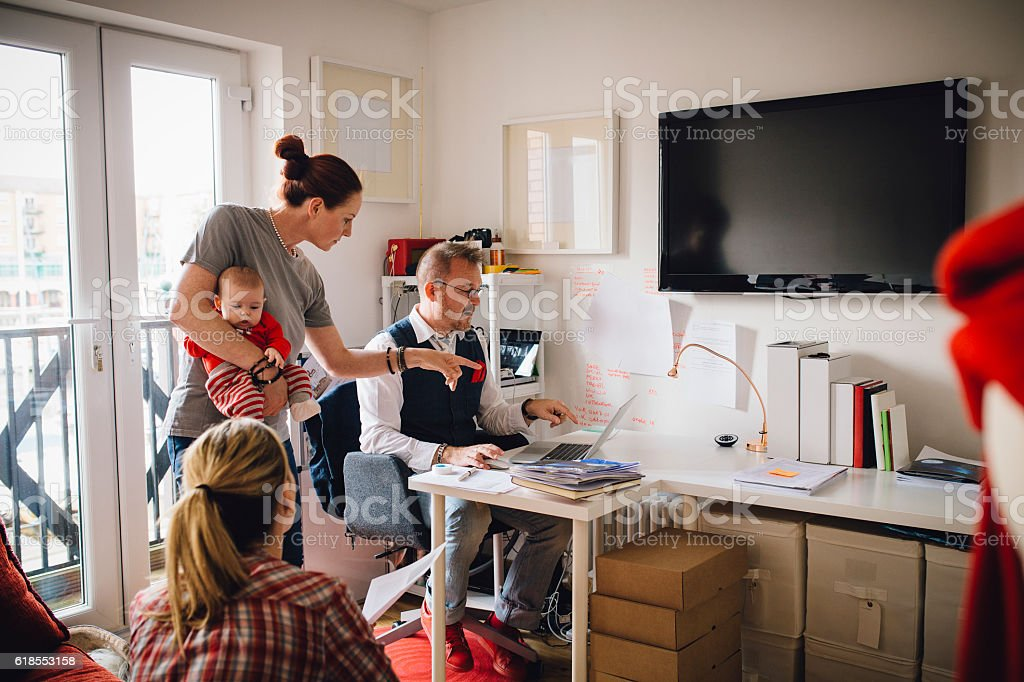 Baby in the Business stock photo