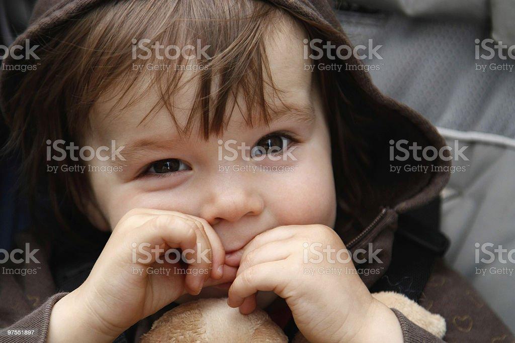 Bébé dans la Poussette photo libre de droits