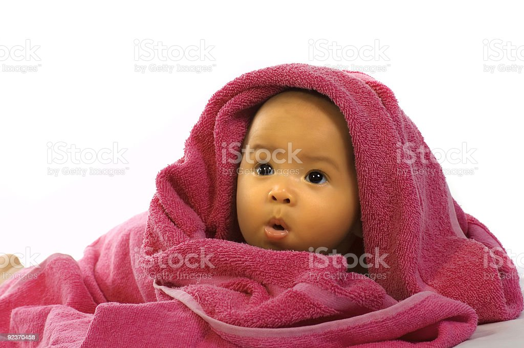 Baby in the Towel royalty-free stock photo