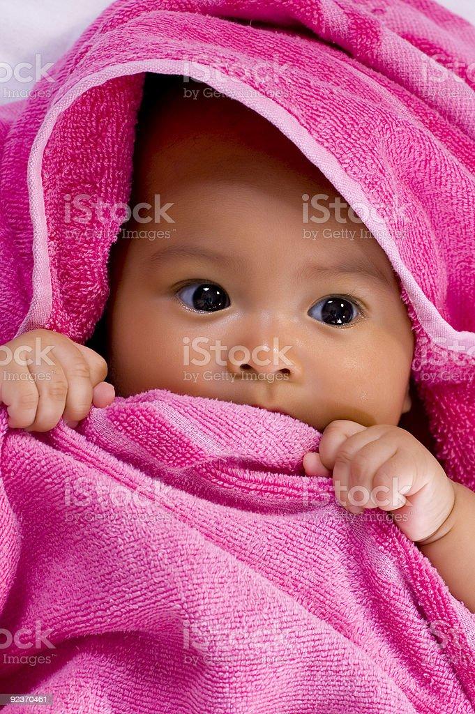 Baby im Handtuch Lizenzfreies stock-foto