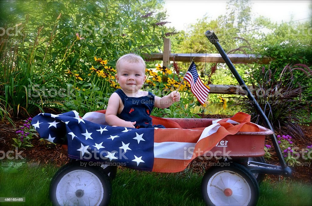 baby in USA stock photo
